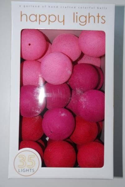 Happylights Designstjerners pink dream lyskjede