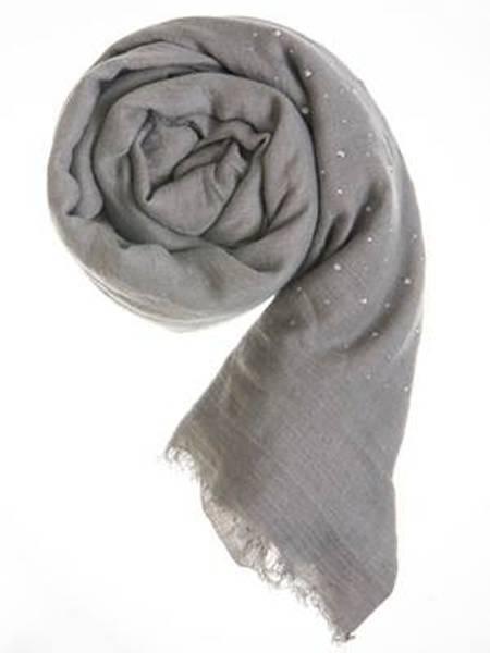 Barfota skjerf , Rhinstones light grey