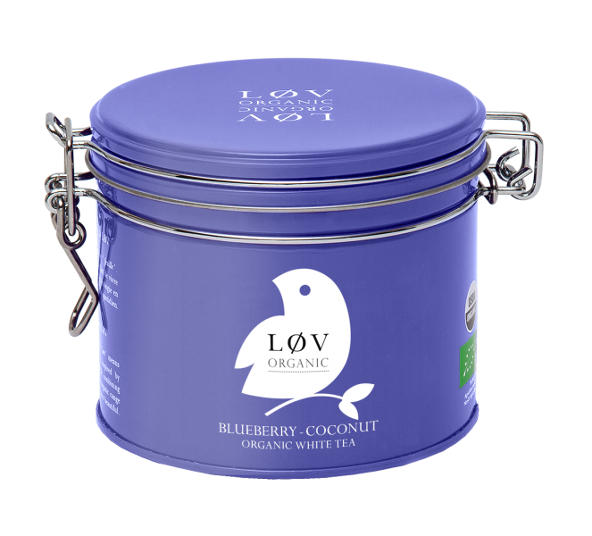 LØV organic, blueberry coconut white tea