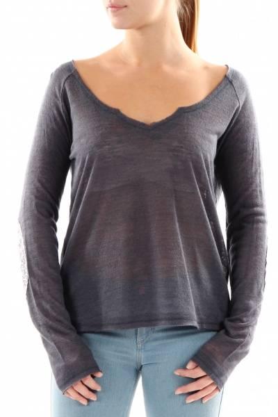 Barfota, summer sweater dark bluegrey
