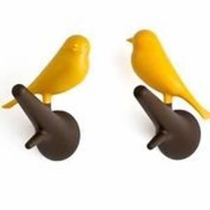 Bilde av Qualy,fugleknagger 2 stk gul